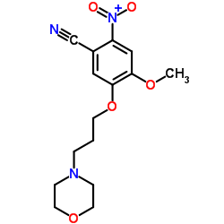 4-methoxy-5-(3-morpholin-4-ylpropoxy)-2-nitrobenzonitrile CAS:675126-26-8