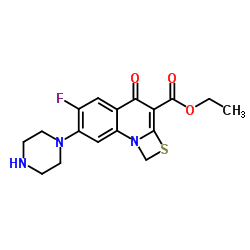 Ethyl 6-fluoro-1-methyl-4-oxo-7-(1-piprazinyl)-4H-[1,3]thiazeto[3,2-a]quinoline-3-carboxylate