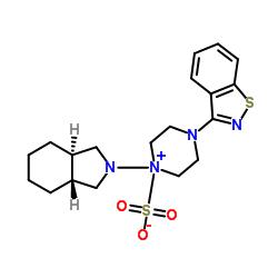 4- (1,2-Benzotiazol-3-il) -1 - [(3aR, 7aR) -octa-hidro-2H-isoindol-2-il] piperazin-1-ium-1-sulfonato