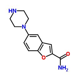 5-piperazin-1-yl-1-benzofuran-2-carboxamide CAS:183288-46-2