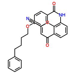 N- (2- 시아 노 -4- 옥소 크로 멘 -8- 일) -4- (4- 페닐 부 톡시) 벤즈 아미드