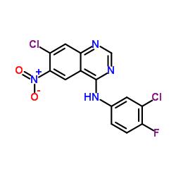 7-chloro-N-(3-chloro-4-fluorophenyl)-6-nitroquinazolin-4-amine CAS:179552-73-9