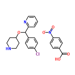 2-[(4- 클로로 페닐)-피 페리 딘 -4- 일 옥시 메틸] 피리딘, 4- 니트로 벤조산