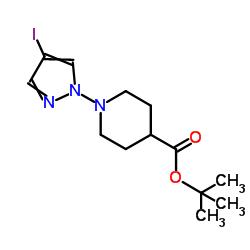 1-Boc-4-(4-Iodo-1H-pyrazol-1-yl)piperidine CAS:877399-73-0