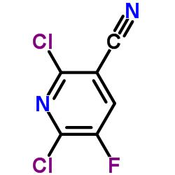 2,6-Dichloro-5-fluoro-3-pyridinecarbonitrile CAS:82671-02-1