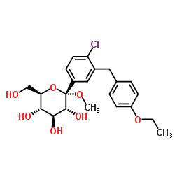 α-D- 글루 코피 라노 사이드, 메틸 1-C- [4- 클로로 -3-[(4-에 톡시 페닐) 메틸] 페닐]-