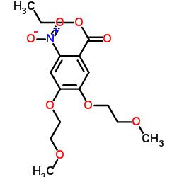 에틸 4,5- 비스 (2- 메 톡시에 톡시) -2- 니트로 벤조 에이트