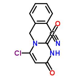 2-((6- 클로로 -2,4- 디 옥소 -3,4- 디 하이드로 피리 미딘 -1 (2H)-일) 메틸) 벤조 니트릴