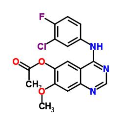 4-((3- 클로로 -4- 플루오로 페닐) 아미노) -7- 메 톡시 퀴나 졸린 -6- 일 아세테이트