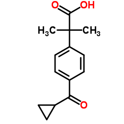 2-[4-(cyclopropanecarbonyl)phenyl]-2-methylpropanoic acid