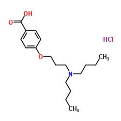 Cloridrato de ácido 4- [3- (dibutilamino) propoxi] benzóico