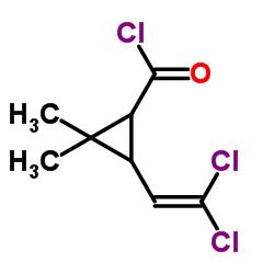 3-(2,2-dichloroethenyl)-2,2-dimethylcyclopropane-1-carbonyl chloride CAS:52314-67-7