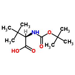 (2R)-3,3-dimethyl-2-[(2-methylpropan-2-yl)oxycarbonylamino]butanoic acid CAS:124655-17-0