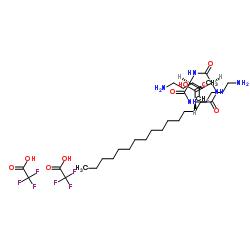 N2-(1-Oxohexadecyl)-L-lysyl-L-valyl-L-lysine 2,2,2-trifluoroacetate CAS:623172-56-5